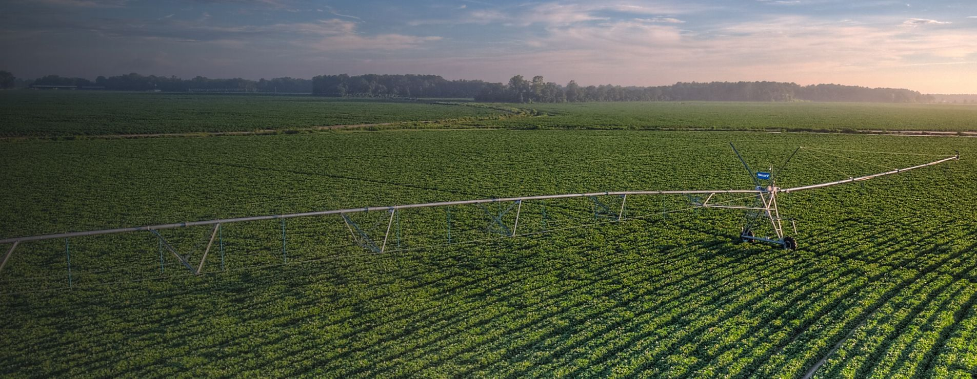 valley irrigation center pivot in a field