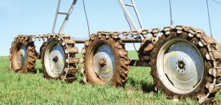 valley articulating track drive - irrigation tires - center pivot irrigation