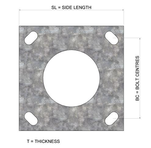 Baseplate-Tay-mid-hinged-column