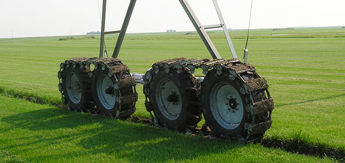 Propulsor de Orugas - irrigation tires - center pivot irrigation