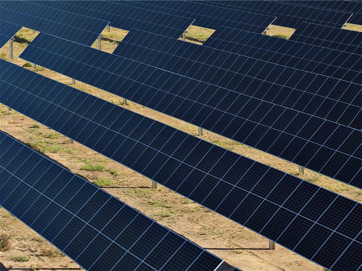 Galvanized Solar Field