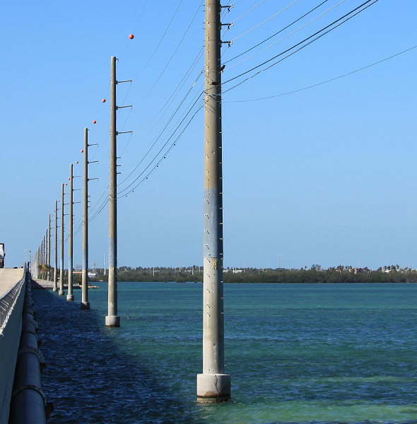 splice joint poles in water