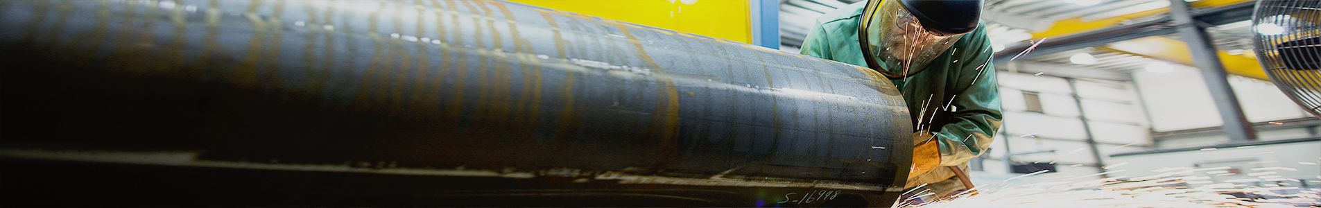 welding large tubular utility tube