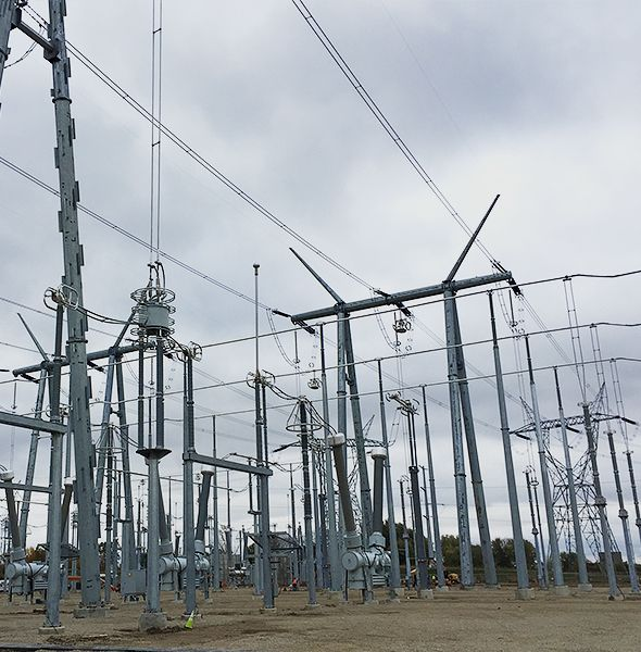 Utility Substation lines up close